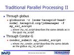 traditional parallel processing ii