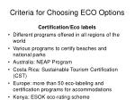 criteria for choosing eco options4