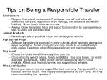 tips on being a responsible traveler1