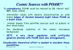 cosmic sources with poam