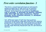 first order correlation function 3