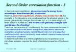 second order correlation function 3