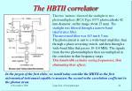 the hbtii correlator