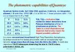 the photometric capabilities of quanteye