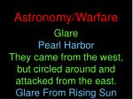 astronomy warfare