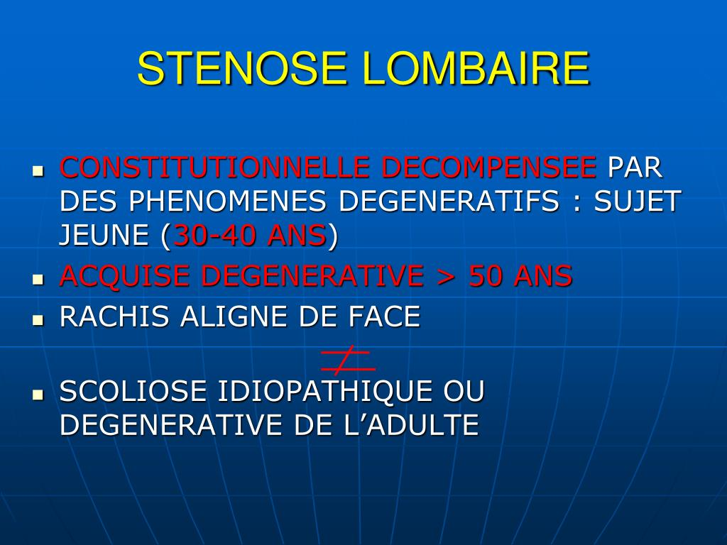 STENOSE LOMBAIRE