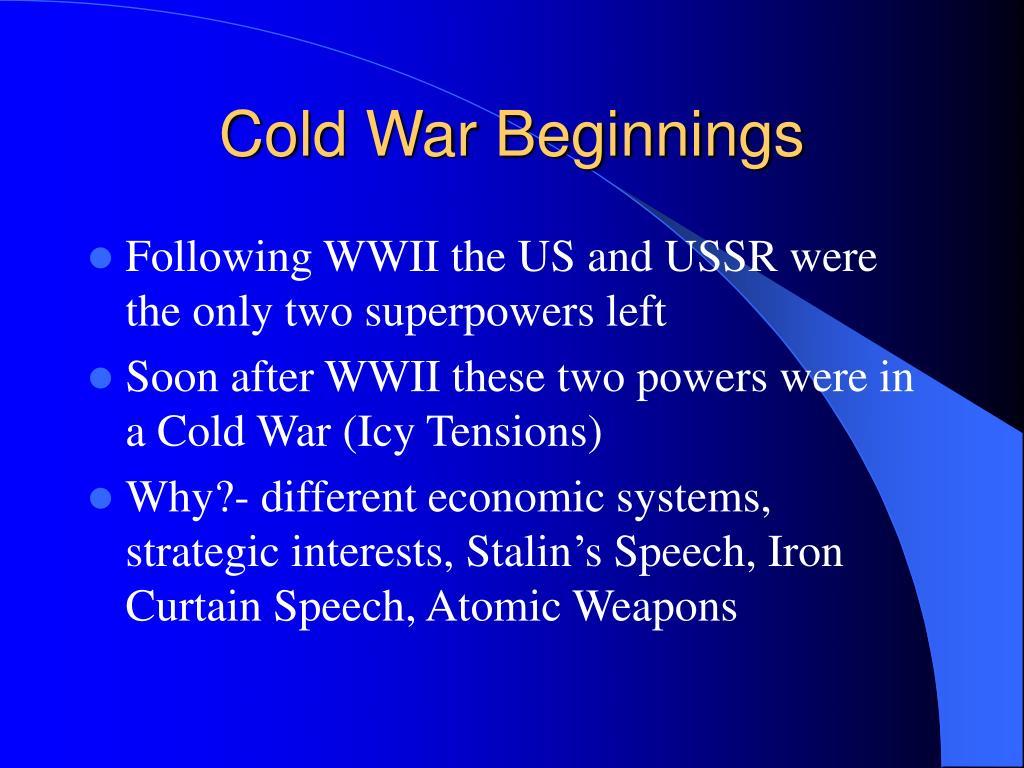 Cold War Beginnings