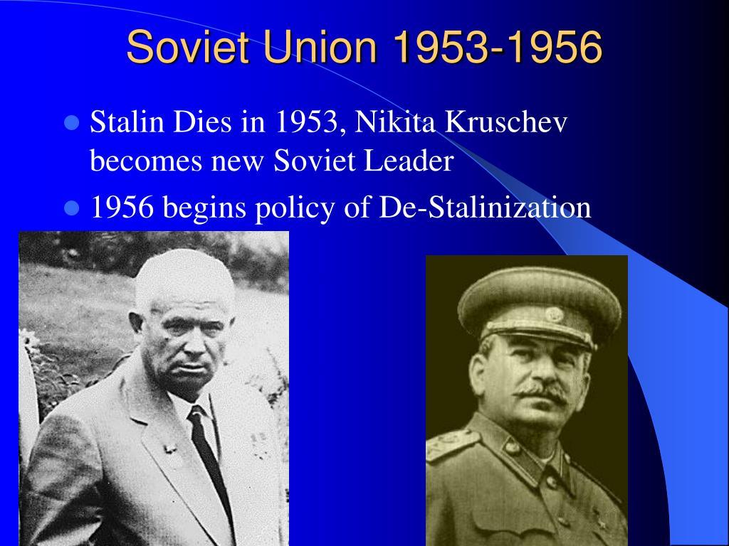 Soviet Union 1953-1956