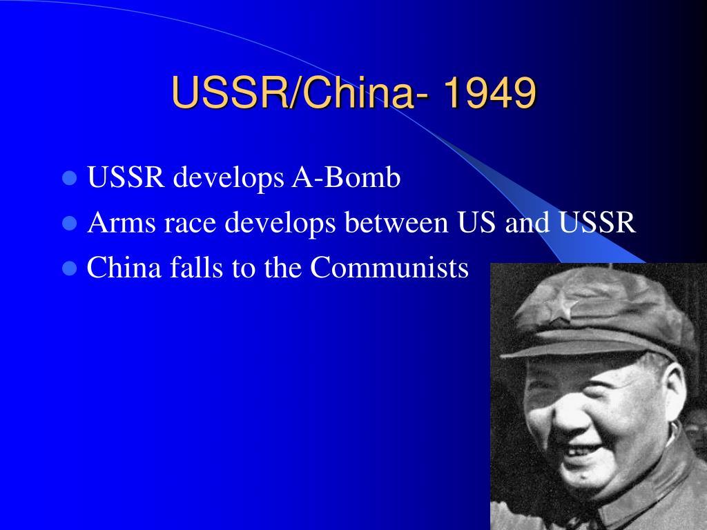 USSR/China- 1949