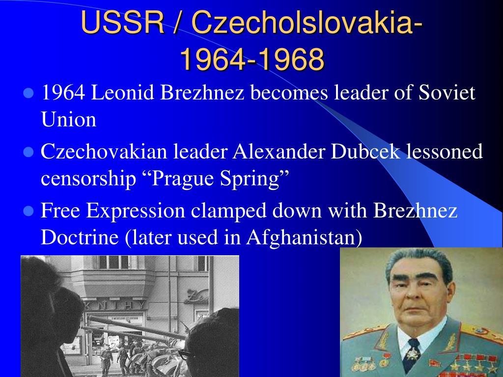 USSR / Czecholslovakia-1964-1968