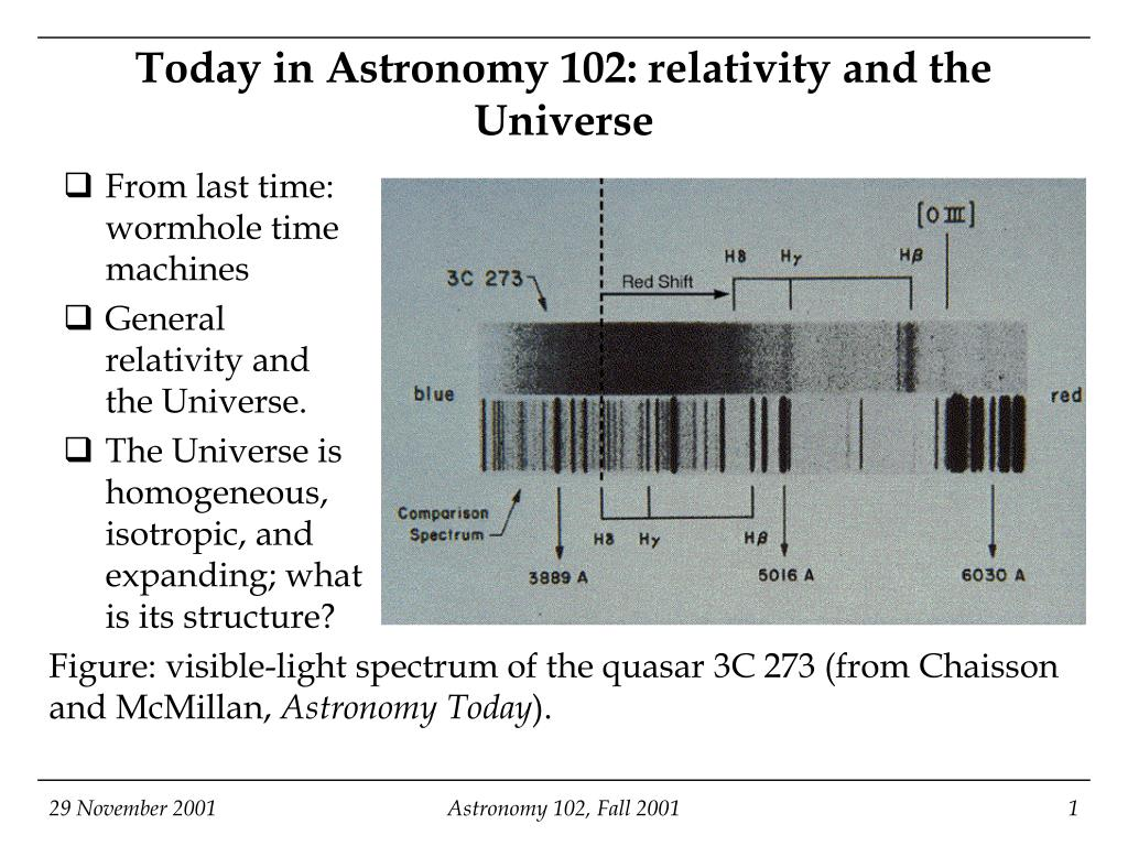 today in astronomy 102 relativity and the universe l.