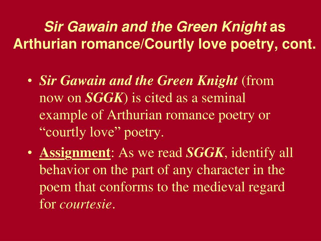 sir gawain and the green knight medieval romance essay
