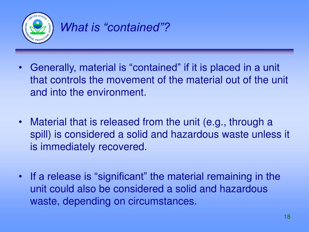 """What is """"contained""""?"""