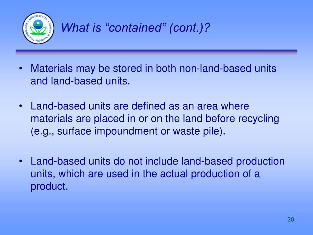 """What is """"contained"""" (cont.)?"""
