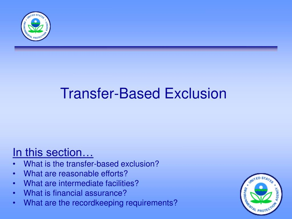 Transfer-Based Exclusion