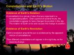 constellations and earth s motion