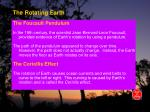 the rotating earth23
