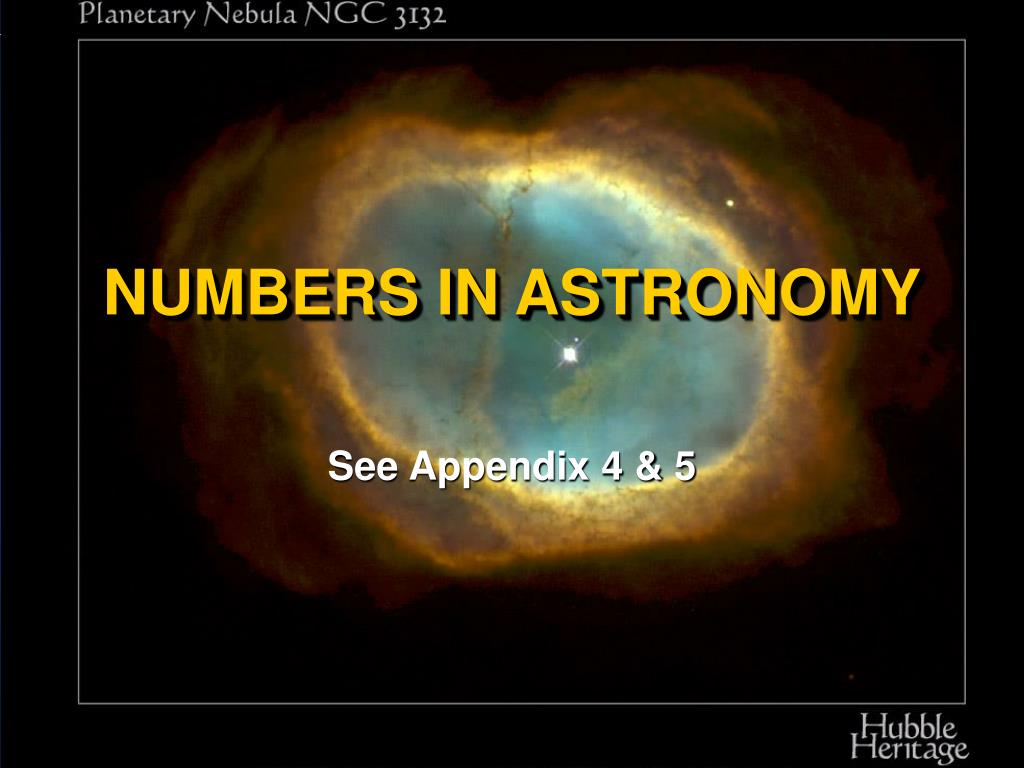 numbers in astronomy l.