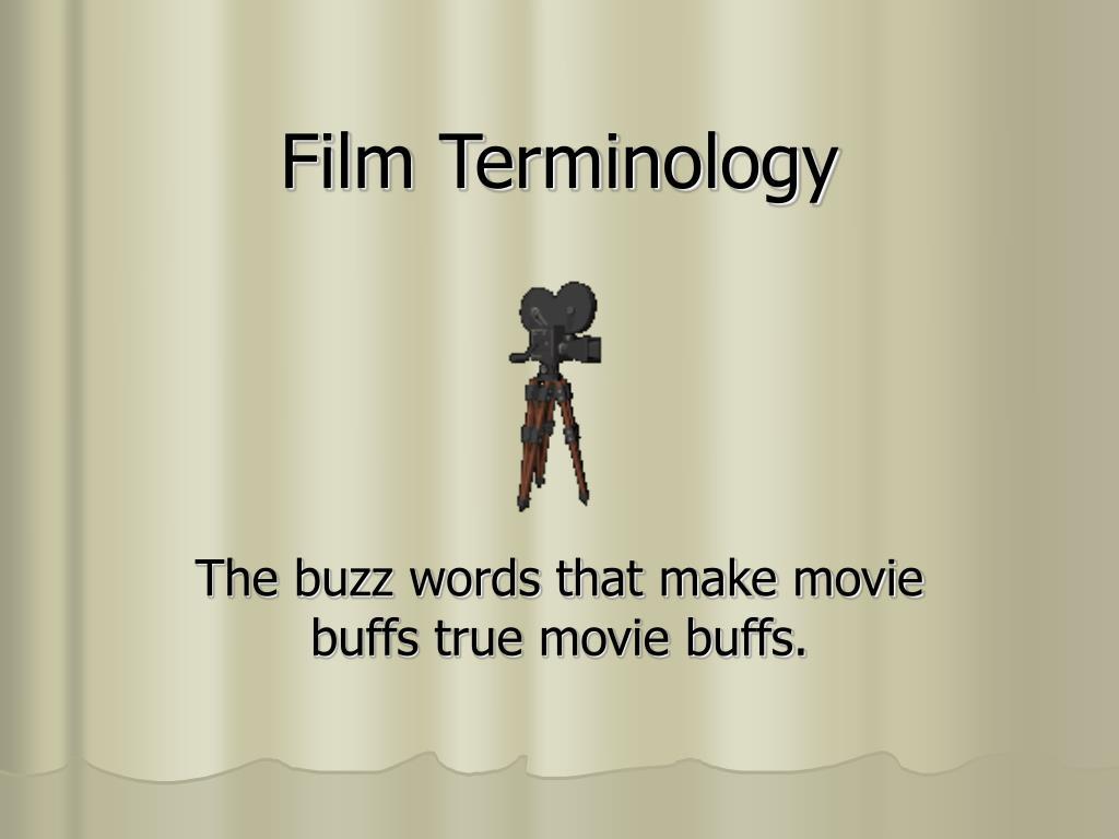 film terminology l.