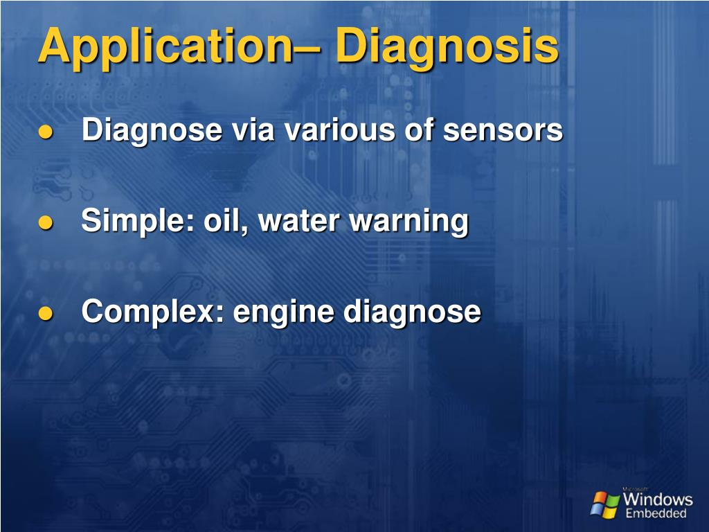 Application– Diagnosis