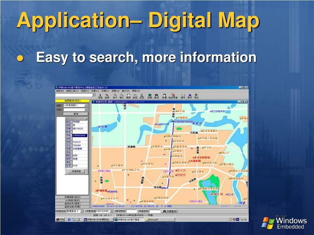 Application– Digital Map