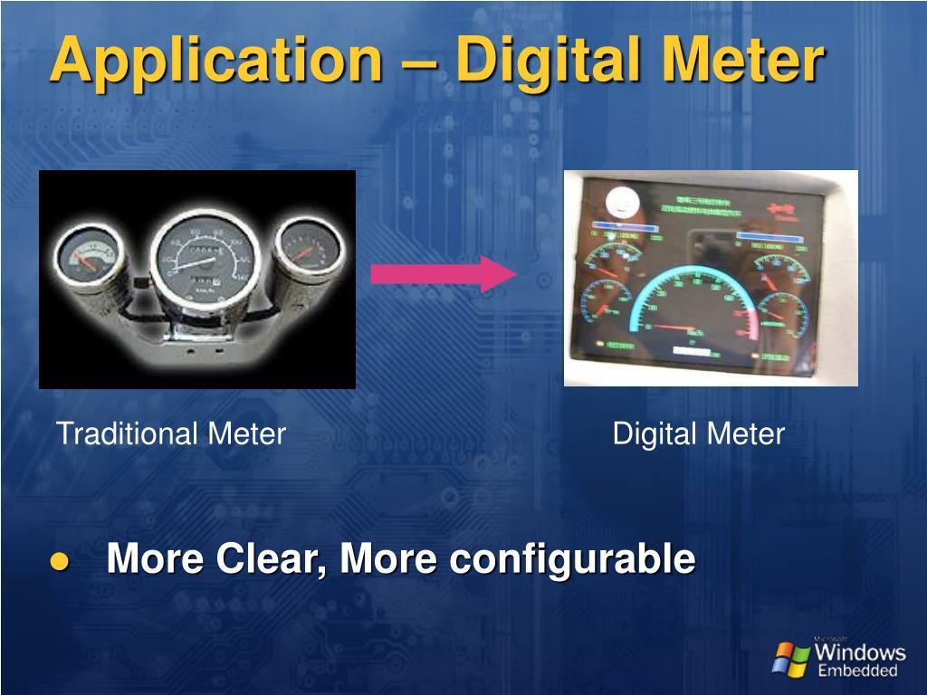 Application – Digital Meter