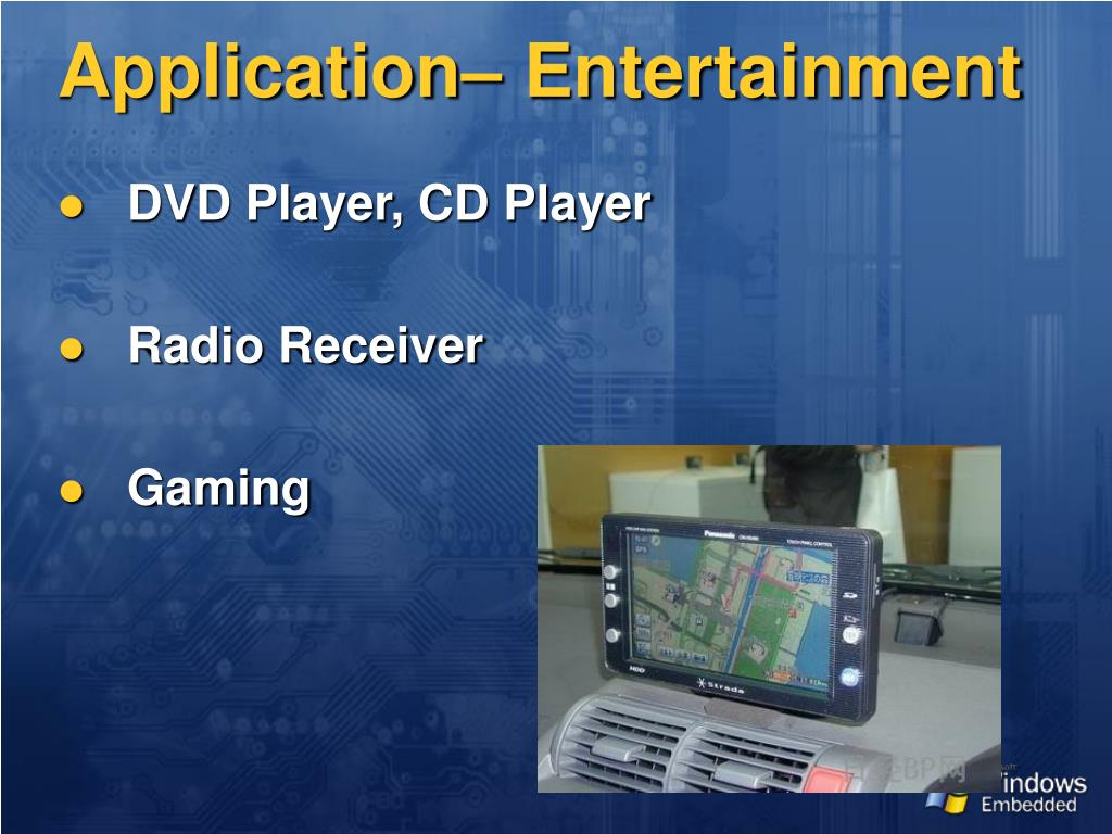 Application– Entertainment