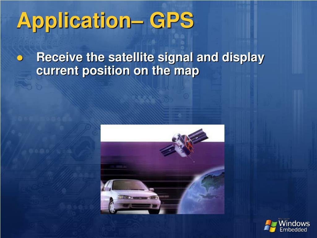 Application– GPS