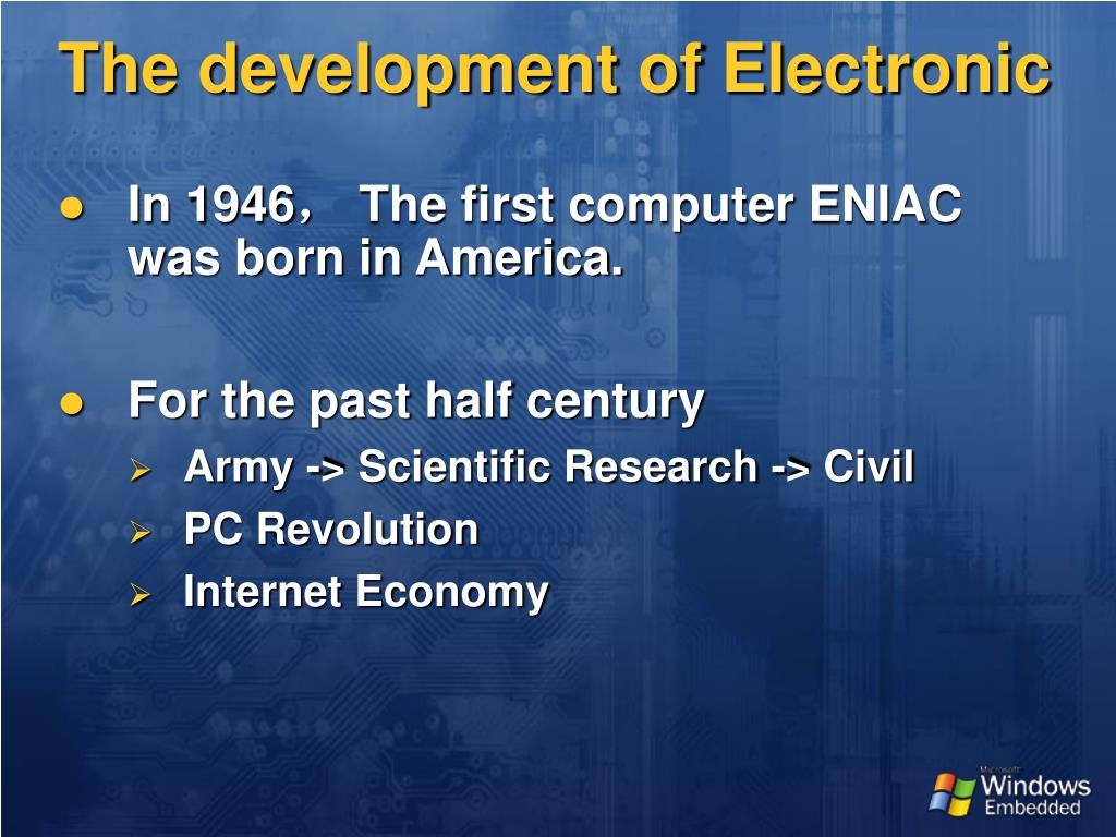 The development of Electronic