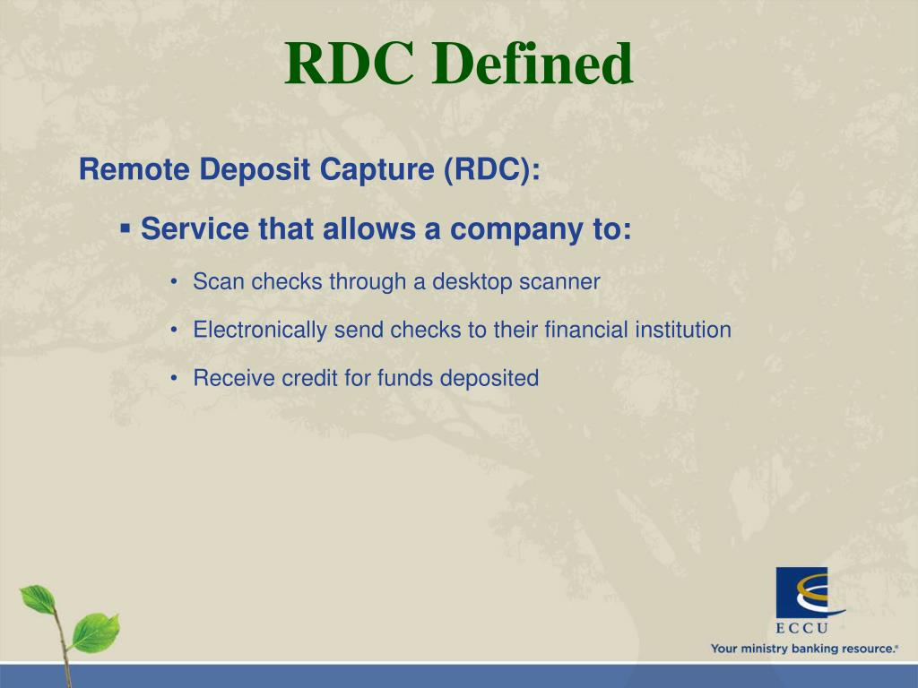 RDC Defined