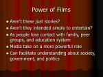 power of films