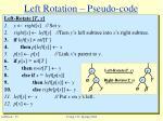 left rotation pseudo code