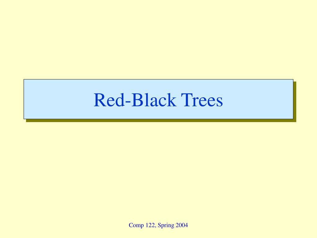 red black trees l.