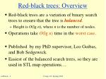 red black trees overview