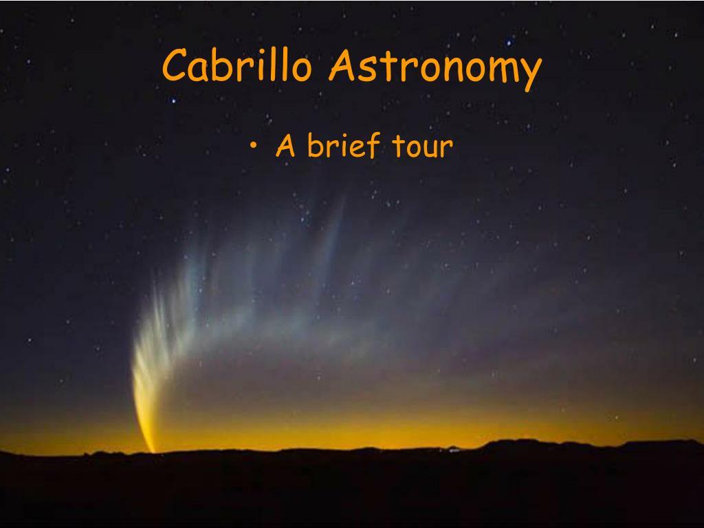 cabrillo astronomy l.