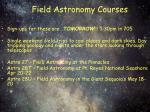 field astronomy courses