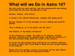 what will we do in astro 10