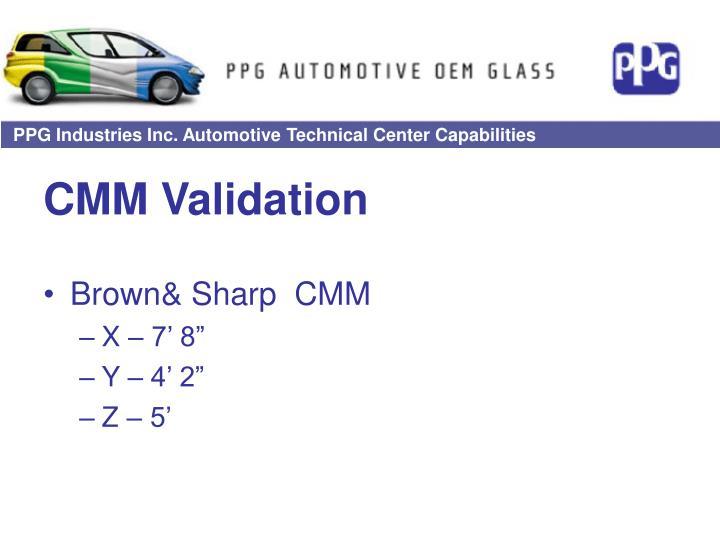 CMM Validation