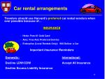 car rental arrangements