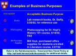 examples of business purposes