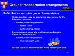 ground transportation arrangements