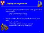 lodging arrangements