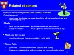 related expenses