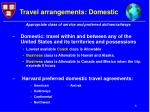 travel arrangements domestic