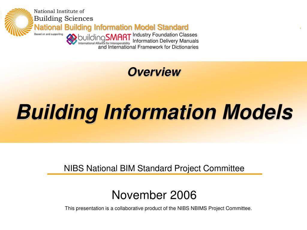 overview building information models l.