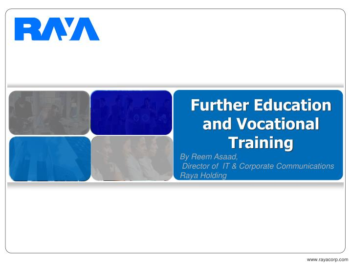 further education and vocational training n.