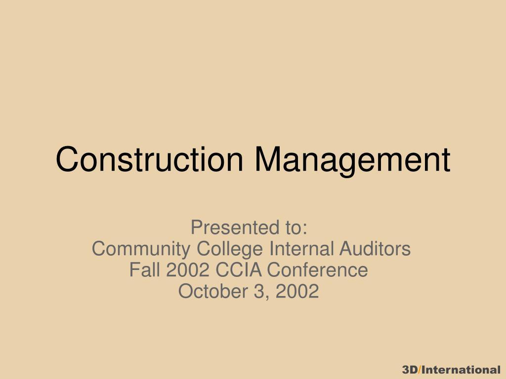 construction management l.