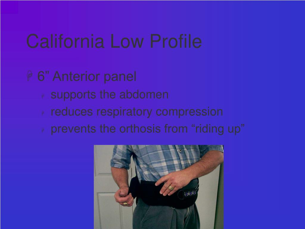 California Low Profile