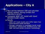 applications city a