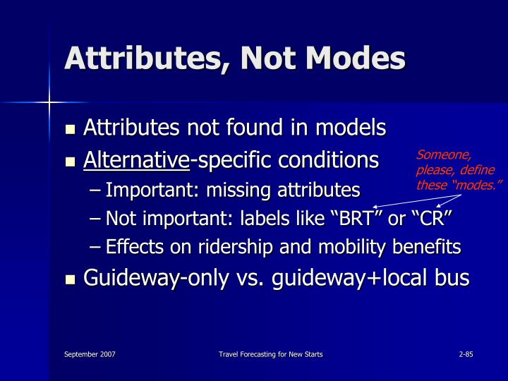 Attributes, Not Modes